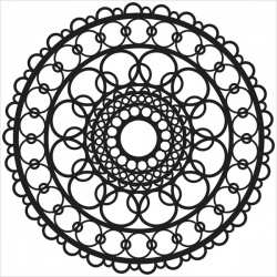 Crafter's Workshop - Mini Pochoir Ring Doily