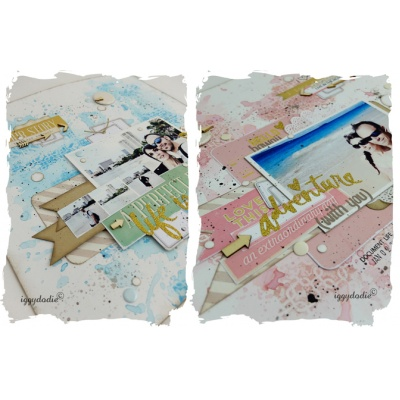 Gelli Plate Layout -  English Version